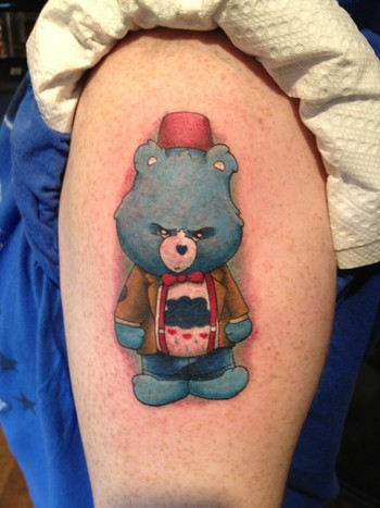 Dr Who, Doctor Who Care Bear that got done at the shop recently!
