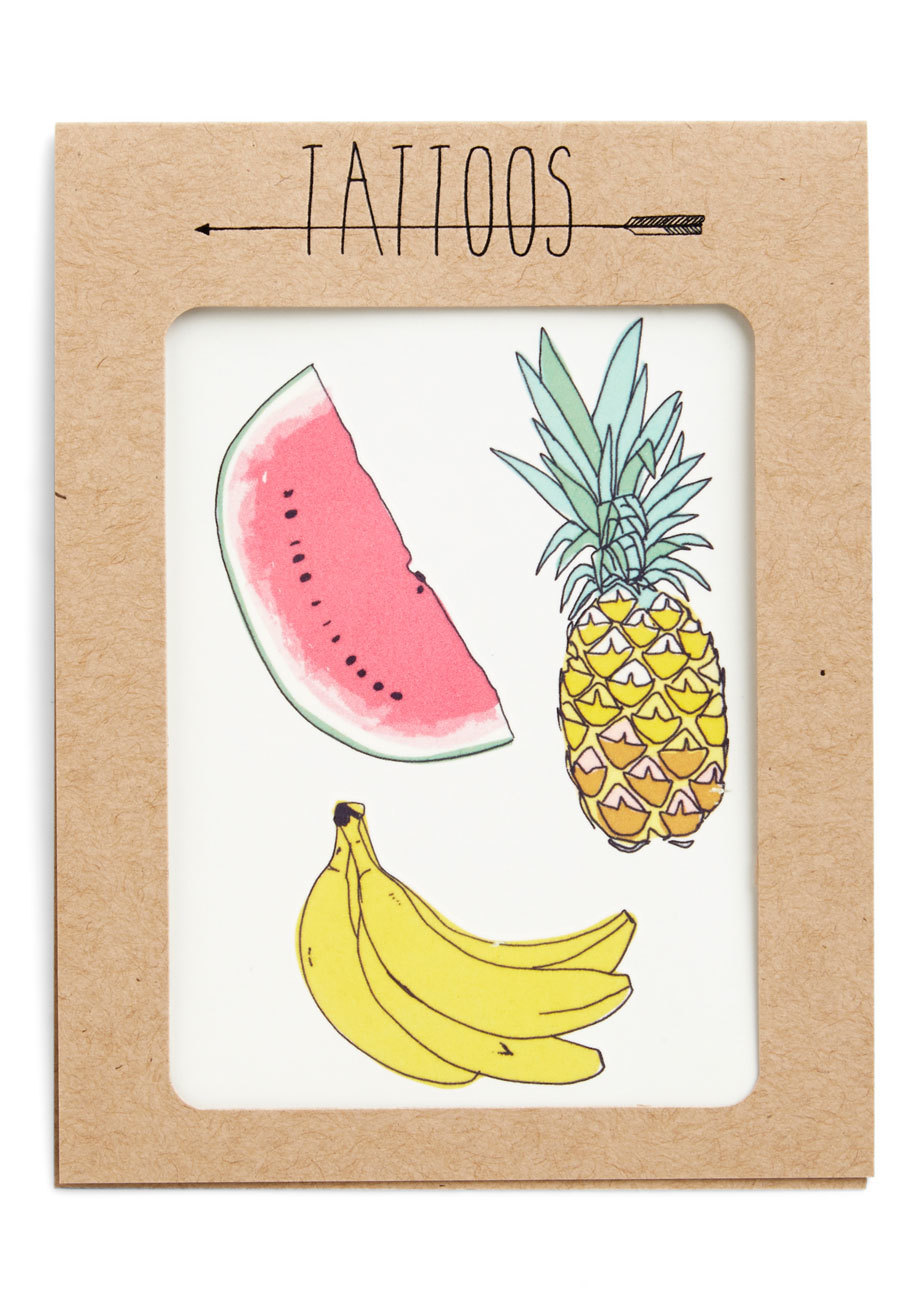 Fruit for thought temporary tattoo set need to sweeten up your ensemble multi modcloth jessica h original