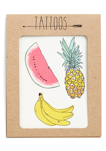 Fruit for Thought Temporary Tattoo Set. Need to sweeten up your ensemble? #multi #modcloth @Jessica H