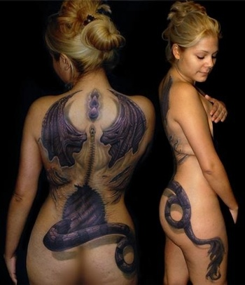 I don't necessarily like the coloring and style and I don't think I would get a full back tattoo like