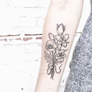 """Caitlin Thomas on Instagram: """"[ Victorian bouquet ] for Kerstin • such a rad person • mariposa lily with a columbine flower alongside a poppy and tulips"""""""