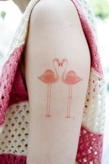 http://tattoomagz.com/modern-tattoos/modern-tattoo-two-pastel-pink-flamingos/