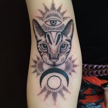 cat, eye, and moon by minka sick