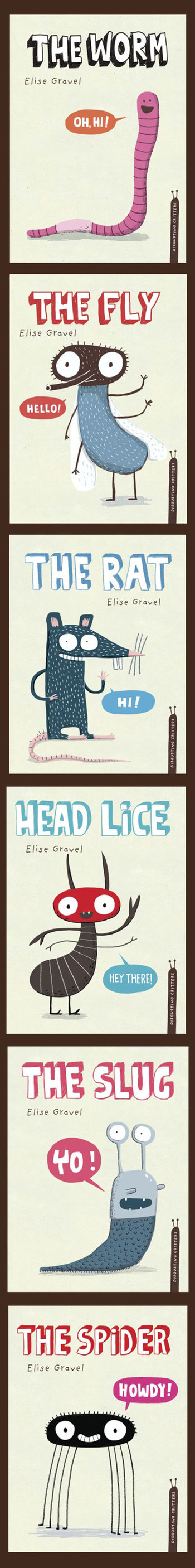 Elise Gravel illustration •The Disgusting Critters series, published with Tundra Books. Funny scienc