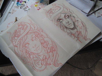 Medusa sketch for a tattoo for my homie/coworker Wade. Preeeetty excited to tattoo this one.