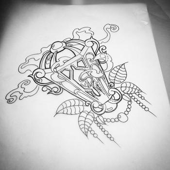 "Perdi on Instagram: ""Or something like that!!! #tattoosketch#tattoo #sweden #gothenburg #lantern"""