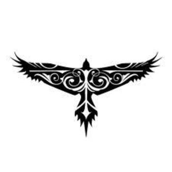 hawk tattoo - Google Search. i like the shape, not the pattern of the filling