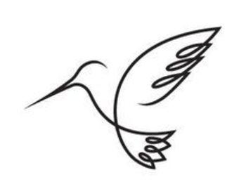 hummingbird one line