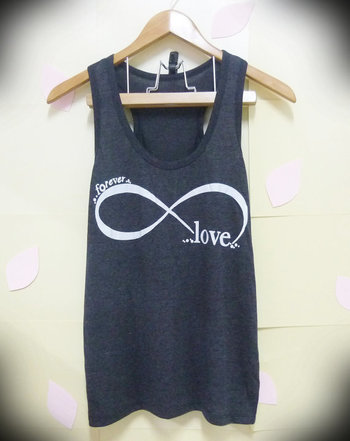 Infinity tank top love shirt forever cute tank top men women teen shirt workout tank top/ singlet/ cu