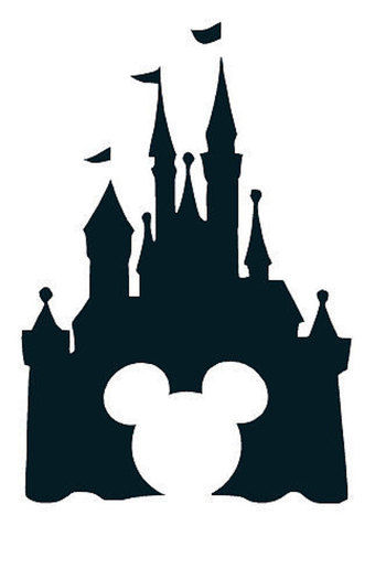 Disney Castle with Mickey Mouse vinyl decal