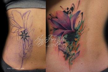 Tattoo flower coverup by Tattoo-J on deviantART