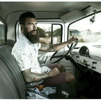 Dave Driskell - full thick dark beard and huge mustache beards bearded man men mens' style fashion vi