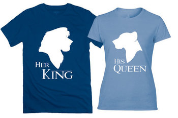 The Lion King Inspired Couples Tee Shirts - The Lion King and Queen Matching Tank Tops - Custom Simba and Nala Shirts