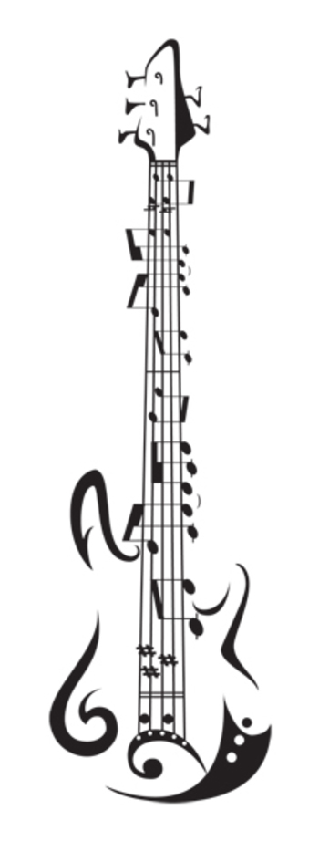 Guitar music tattoos design images