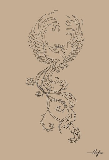 "the phoenix, actually spelled ""phenix"" in middle english, is a greek mythological creature that represents rebirth. it is reborn from"