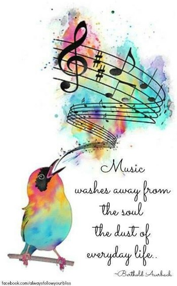 Music...that soothes the soul, makes you cry, makes you shake your booty....love it all.