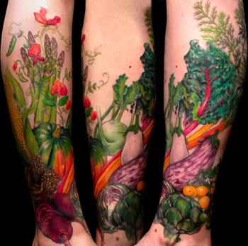 Photo Gallery: Delicious and Nutritious Fruit and Veggie Tattoos