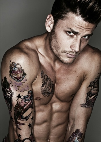 gotta love men with tattoos