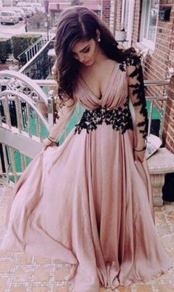 Blush Pink Prom Dresses,Vintage Pro..