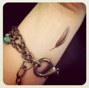 Feather tattoo. He will cover you with his feathers and under his wings you will find refuge Psalm 91