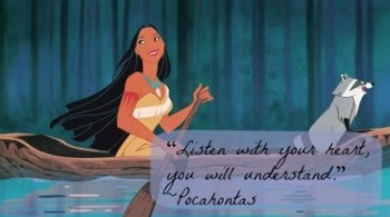 Pocahontas is one of my fave princesses. Cross-cultural interracial love story and she had a mind of