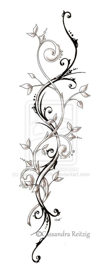 tendril tattoo drawing by CassandraReitzig on deviantART