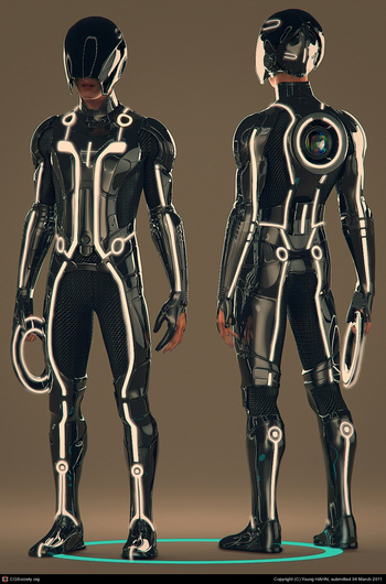 tron suit I wish I could make this !