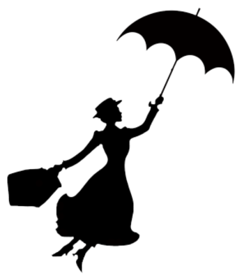 Mary Poppins Stencil
