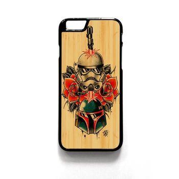 Star Wars Bobba Fett And Starship Trooper Tattoo For Iphone 4/4S Iphone 5/5S/5C Iphone 6/6S/6S Plus/6 Plus Phone case ZG