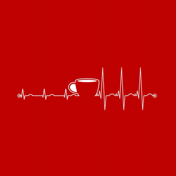 """The Caffeine Heartbeat""- I don't drink caffeine but this still cracked me up haha:)"