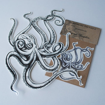 Octopus temporary Tattoo Temporary Tattoo by OctaviaTattoo, £3.95 wouldn't Andrew love this!!!