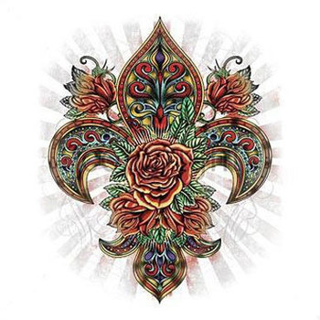 Image detail for -fleur de lis rose tattoo art t shirt from $ 18 99 a beautiful fleur de ...