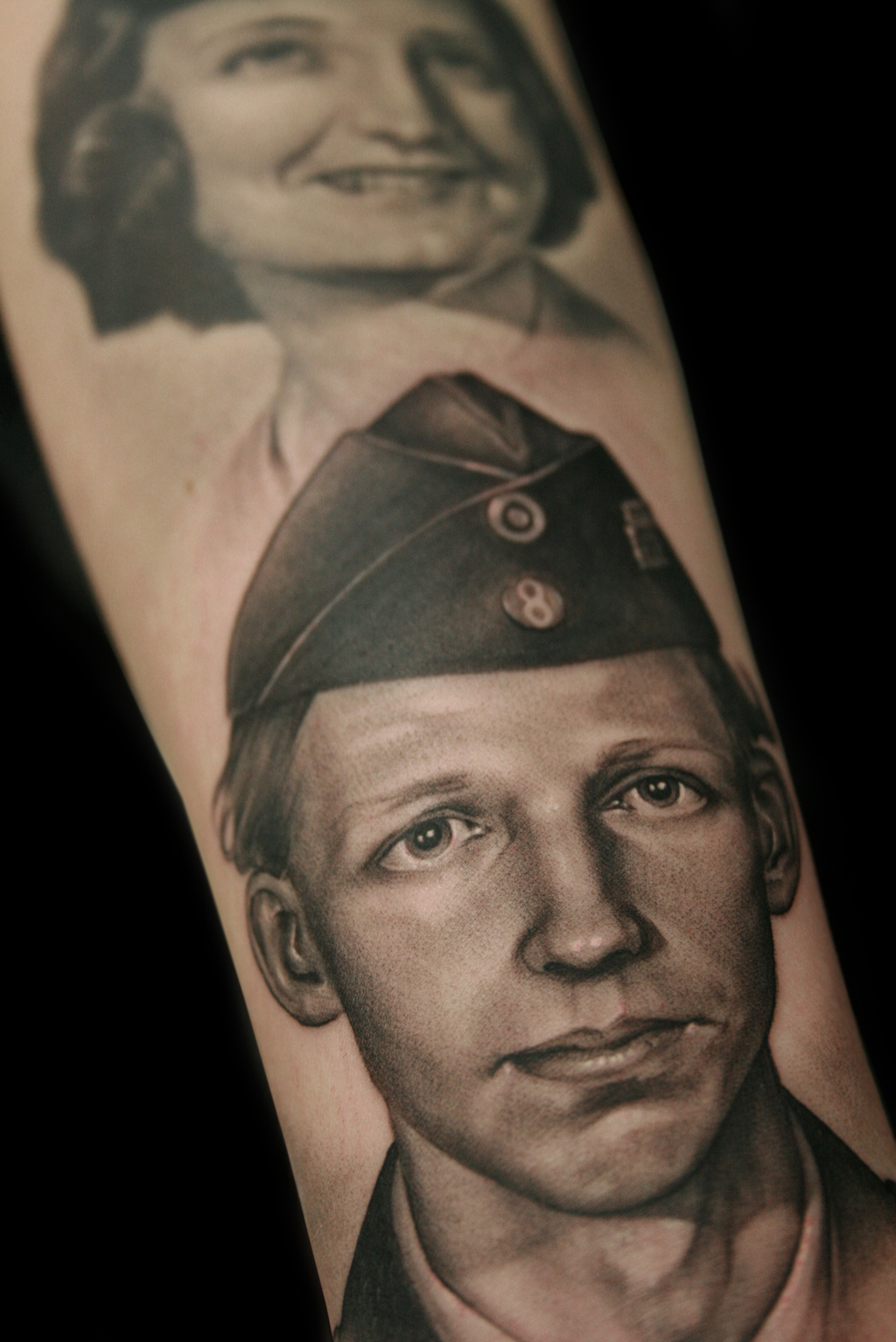 I want a tattoo done of my granddaddy when he was in the military he was and always will be my hero original