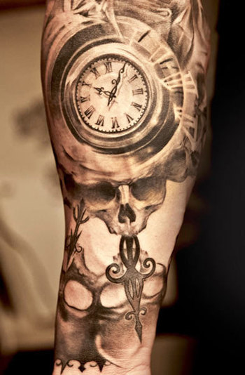 Realism Time Tattoo by Niki Norberg