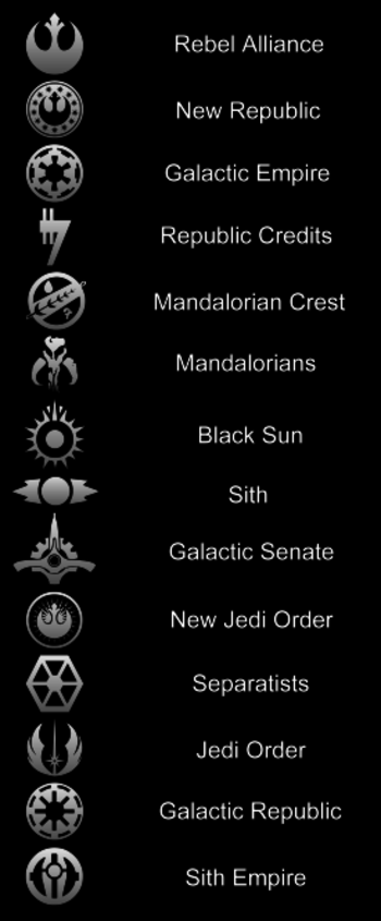 Just noticed the Galactic Republic and Galactic Empire logos look a lot like the Greendale Flag logo