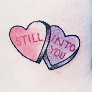 Candy hearts, Paramore tattoo