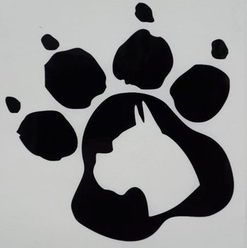 Boxer Paw Print Car Truck Funny Window Vinyl Decal Sticker Choose Color