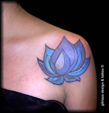 blue lotus flower tattoo - Google Search