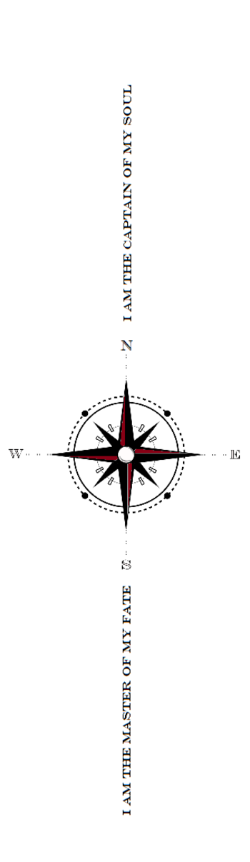 Invictus Compass Tattoo idea I came up with