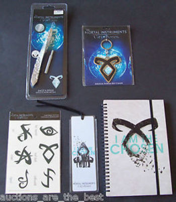 The Mortal Instruments City of Bones Tattoos KeyChain Journal Bookmark Stele New