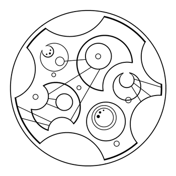 """All of time and space"" in Gallifreyan"