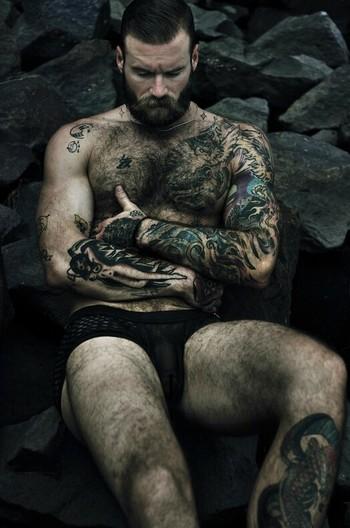 Beard or ink .. Beard or ink? Damn it.. Both!